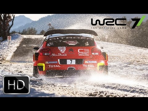 WRC 7 'Sweden Super Special Stage' Game Play (2017) Rally Simulation Game HD