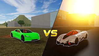 LAMBORGHINI EGOISTA VS TESLA ROADSTER 2.0 | ROBLOX: Vehicle Simulator
