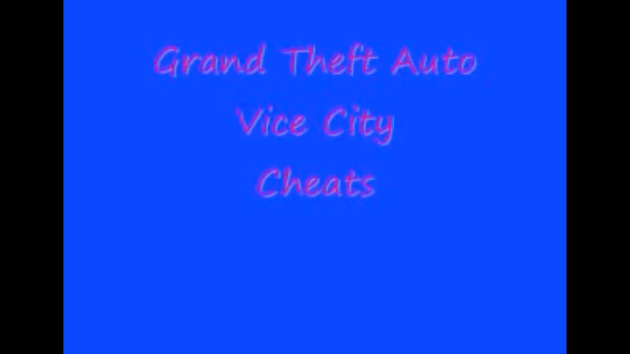 GTA Vice City Cheats (PS2)