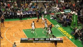LeBron James (34Pts, 16Reb, 7Ast), Ray Allen (21Pts) vs Celtics (2013.01.27)