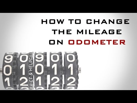 how to change the mileage on odometer
