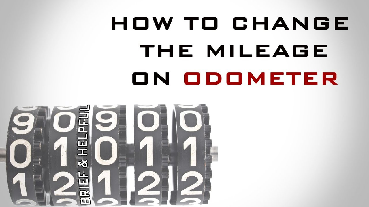 how to change the mileage on odometer - YouTube