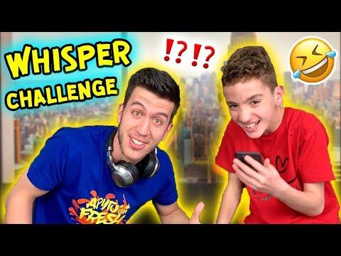 WHISPER CHALLENGE | Шепнещо Предизвикателство (СМЯХ!)