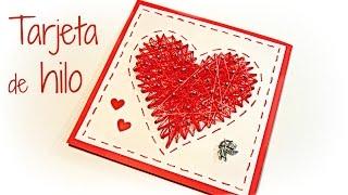 manualidades para san valentn tarjetas corazn de hilo valentine s cards