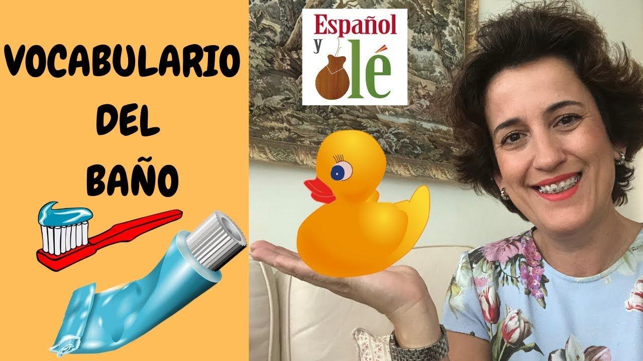 🛀LEARN SPANISH: VOCABULARIO del CUARTO DE BAÑO en ESPAÑOL ...