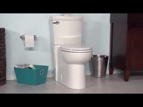 Toilets: Clean High Efficiency Elongated Toilet By American Standard