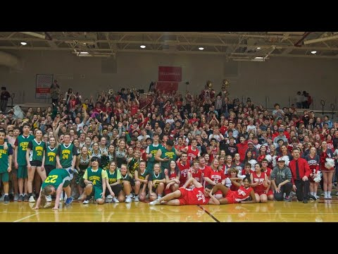 Crowd Cheers On Unified Sports Basketball Game