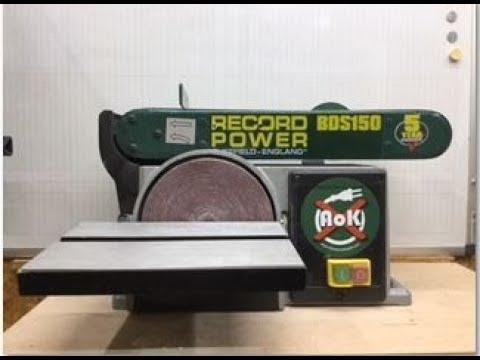 mit der bandschleifmaschine und tellerschleife bds612 s doovi. Black Bedroom Furniture Sets. Home Design Ideas