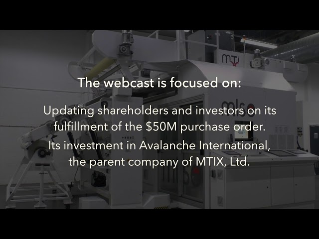 DPW Holdings   Investor Webcast 03152018 re MTIX Presentation Promotional Video