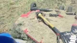 Mowing sagebrush