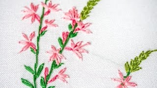 Hand Embroidery for Beginners | Learn Lazy daisy, Outline Stitches | HandiWorks #96