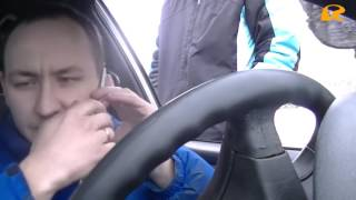 Новая Полиция Одессы уж очень тугой полицейский