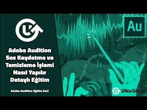 Adobe Audition Ses Kaydetme ve Temizleme İşlemi Nasıl Yapılır Detaylı Eğitim