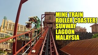 weird but fun mine train roller coaster lost city of gold front seat pov sunway lagoon malaysia