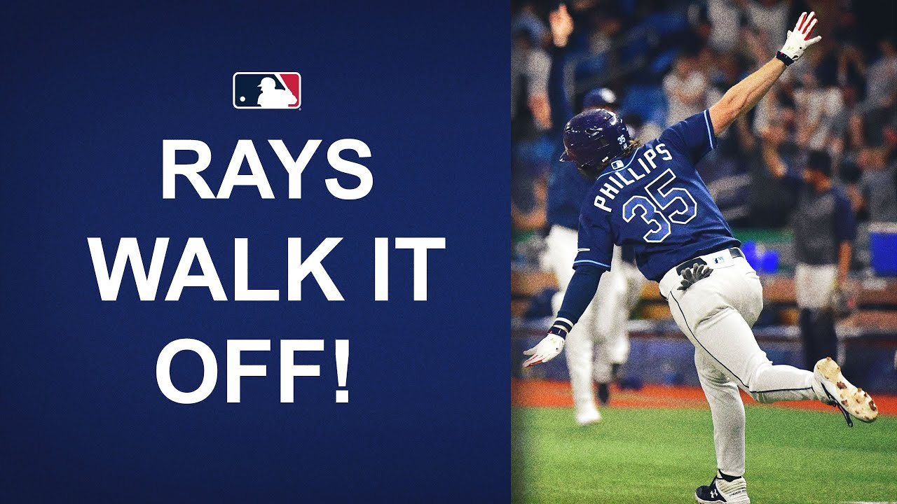 Brett Phillips launches a NO-DOUBT walk-off homer for the Rays and celebrates with an airplane!