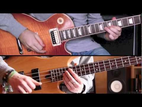 Take Five - Guitar & Bass Cover - Split Screen