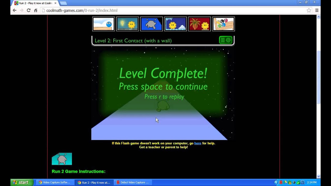Cool Math Games #1 Run 2 Game Play!! - YouTube