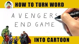 """How to draw """"AVENGERS ENDGAME""""? - Draw WTF"""