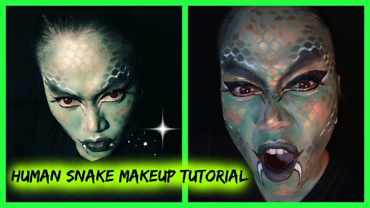 HUMAN SNAKE MAKEUP TUTORIAL || HALLOWEEN SERIES || Candy\'s Rouge ...