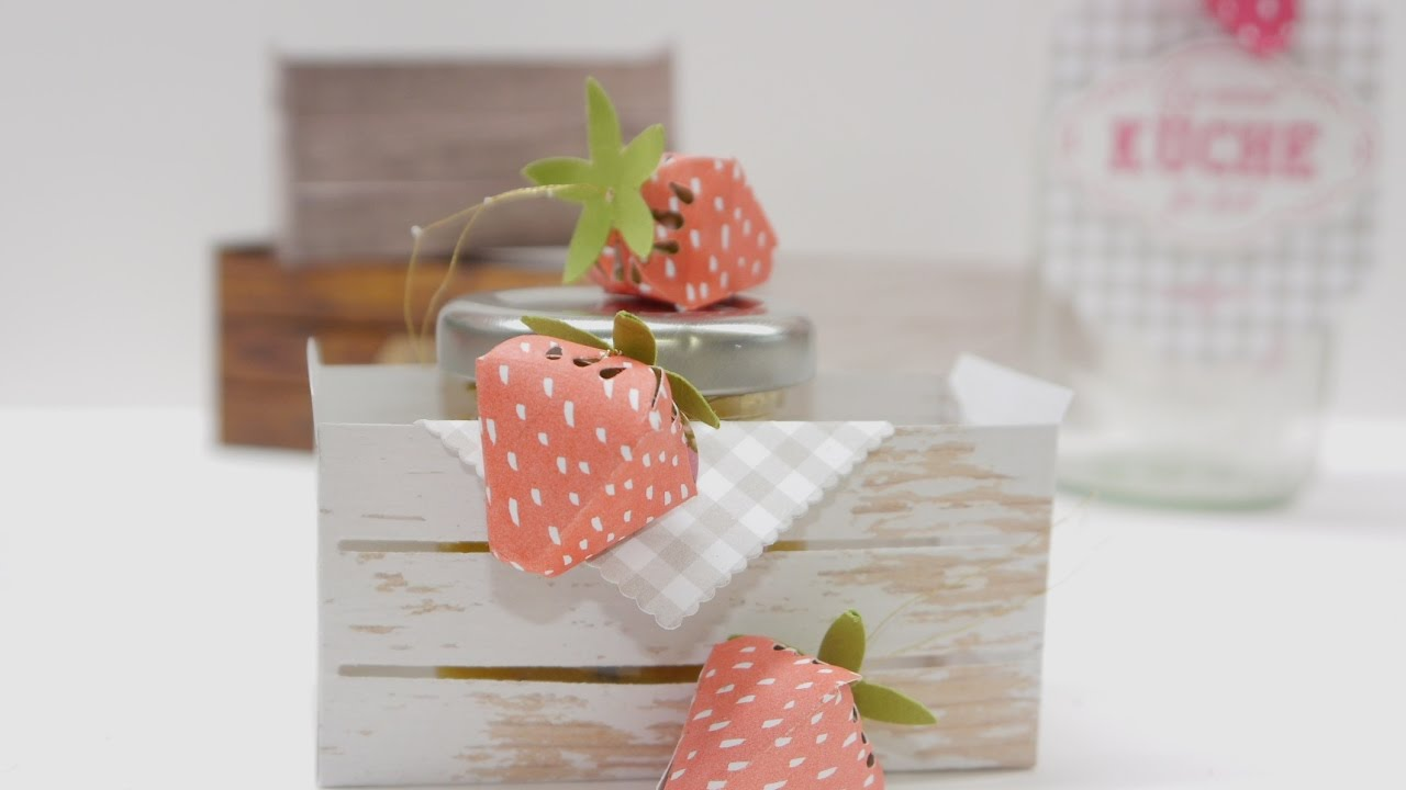 Erdbeeren Basteln Mit Papier Youtube