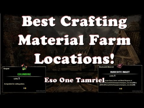 ESO | Best Material Farming Locations (Ore, Runes, Wood, Etc) | One Tamriel