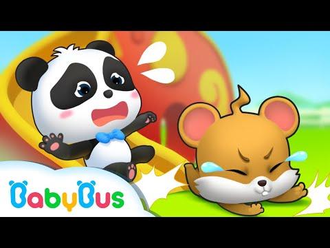 ながいすべりだいであそぼう❤じゅんばんじゅんばん! | 子供向け安全教育 | 赤ちゃんが喜ぶアニメ | 動画 | BabyBus
