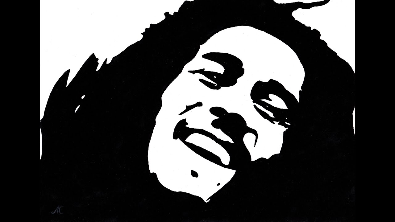 drawing Bob Marley / M...