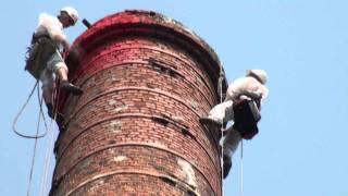 видео Ремонт дымовых труб кирпичных