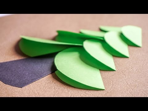Making Circle Tree | kids papercrafts | easy crafts ideas | CraftiKids #4