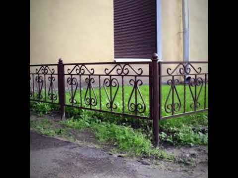 Кованые садовые ограждения для газона, палисадника, клумб в Екатеринбурге.