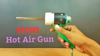 How To Make a Mini Hot Air Gun From a Soldering Plug - Simple At Home