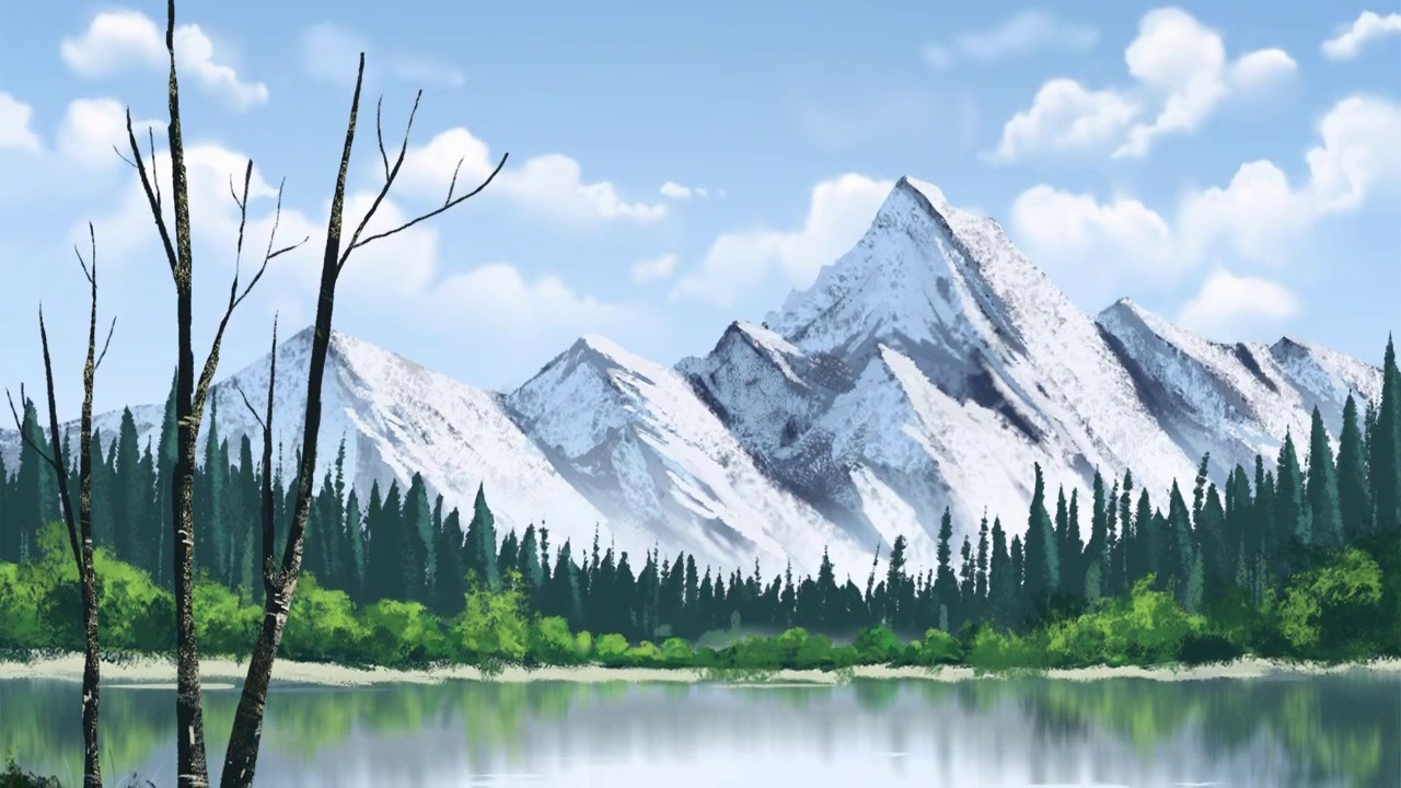bd7716181b69b Bob Ross Style Landscape Painting - YouTube