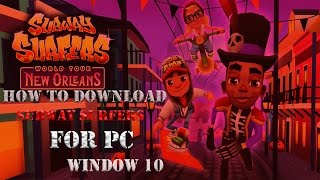 How To Download Subway Surfer For Pc (2016) ! Window 10 - ATS