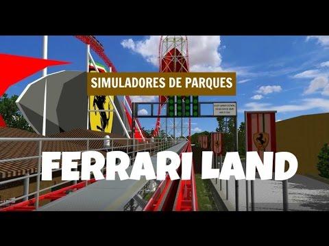 FERRARI LAND - Port Aventura 2016 - Simulación 3D 1080p.