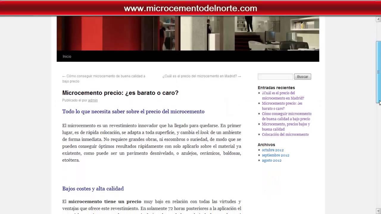Microcemento precio es barato o caro youtube - Microcemento precio ...