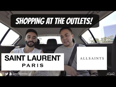 Saint Laurent and All Saints Outlet, Fear of God alternative and party time!