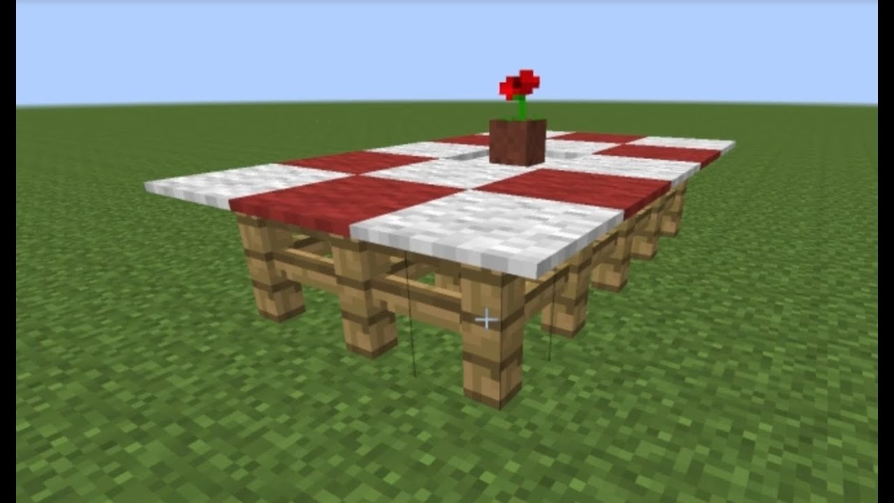 How to make a center piece for your dining table in for Minecraft coffee table