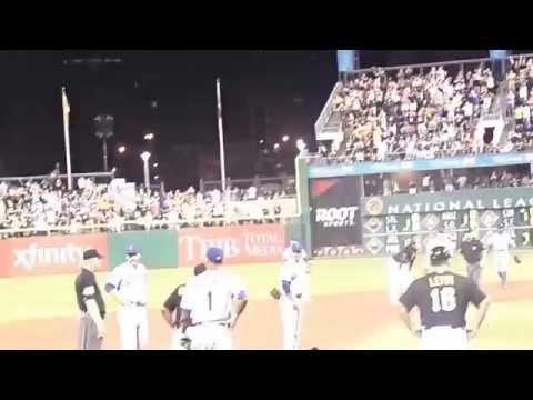 Josh Harrison rundown vs New York Mets June 27 2014 pnc park