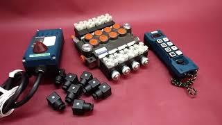 Remote radio control HM-line 800  hydraulic valve 4 spool 80 l/min 12VDC video