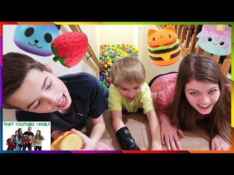 Ball Pit Party Stair Slide Squishy Scavenger Hunt / That YouTub3 Family