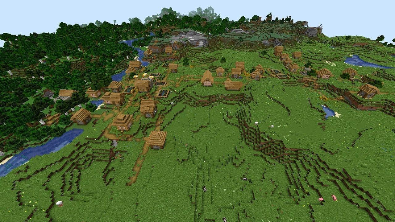 Minecraft 9.95 Seed 9: Massive village, two blacksmiths at spawn
