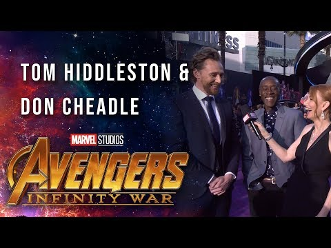 Tom Hiddleston and Don Cheadle Live at the Avengers: Infinity War Premiere