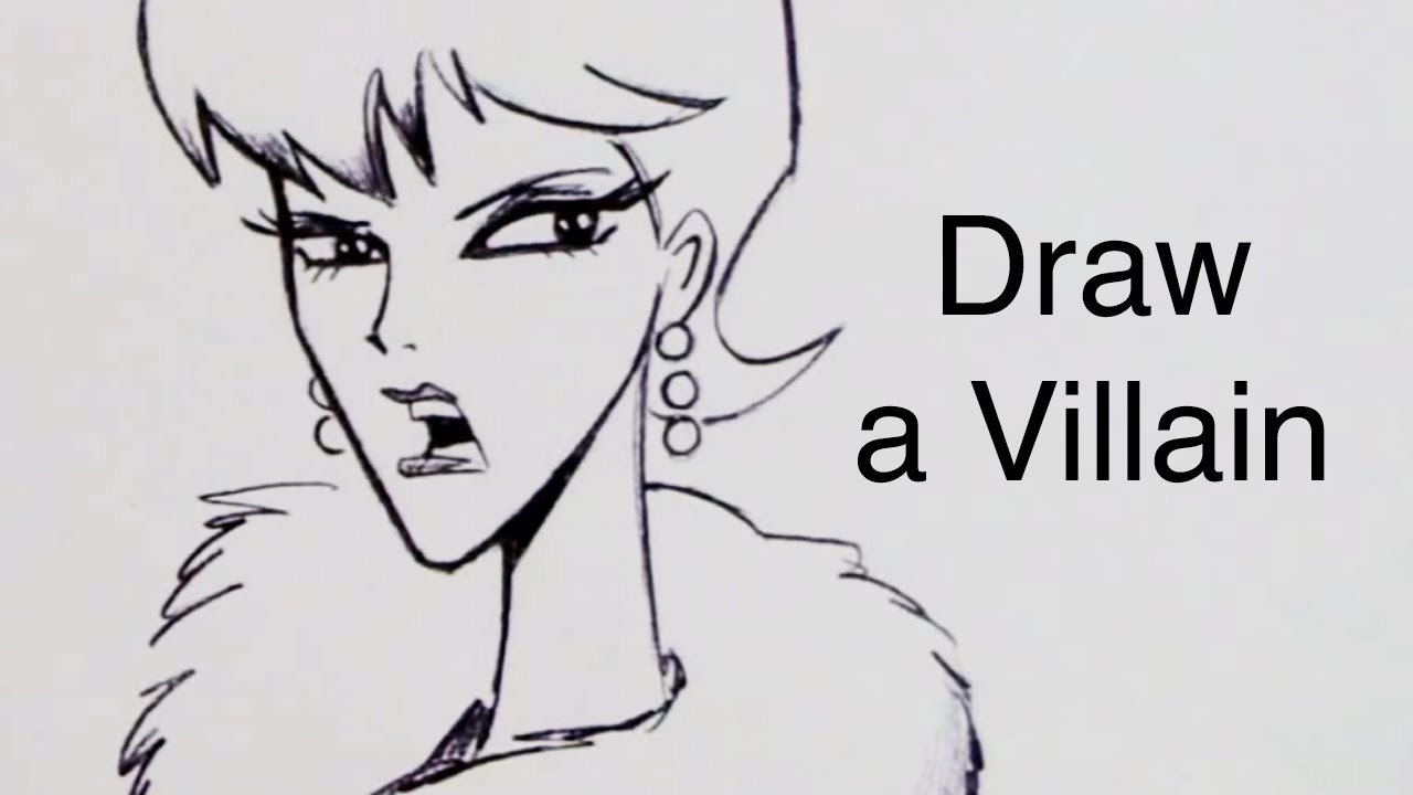 How To Draw A Villain Step By Step Youtube