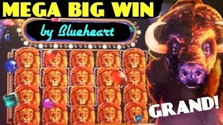 HUGE BUFFALO GRAND slot LINE HIT and FULL SCREEN KING of AFRICA with MORE SLOT WINS!