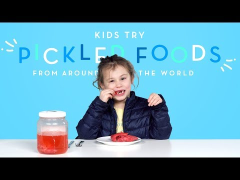 Kids Try Pickled Foods | Kids Try | HiHo Kids