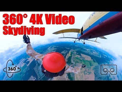 360° SkyDiving 4K Video YI360VR