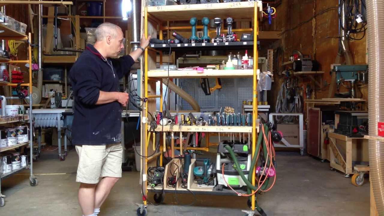 garage work station ideas - lean workshop organizer