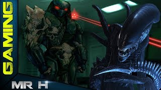 AVP2 Aliens VS Predator 2 Retro Game Walkthrough MARINE MISSION 3