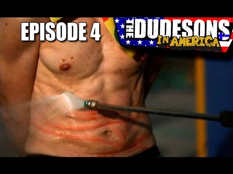 Savage Pressure Washer Tattoos! - Dudesons In America Episode 4