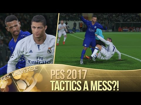 [TTB] PES 2017 - Real Madrid v Leicester City - Tactics a Mess? - Need to be Fixed!